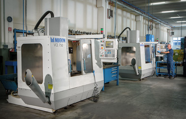Our two Mikron VCE 750 milling machines