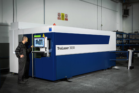 Trumpf TruLaser 3030 fibre optic machine